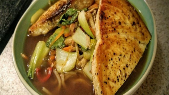 Photo of Swordfish over Ginger Hot and Sour Soba Soup by hamburgertuktuk