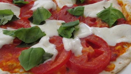 Photo of Crispy Tomato Basil Pesto Flatbread Pizzas by Tricia L