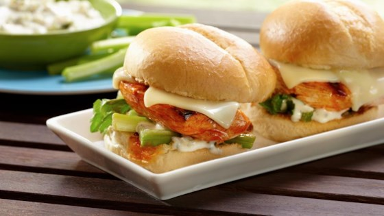 Photo of Grilled Buffalo Chicken Sliders by Land O'Lakes