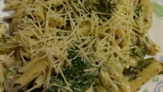 Photo of Penne with Creamy Pesto Sauce by lompoc sheri