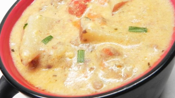 Photo of Cheeseburger Chowder with Sausage by 5frys