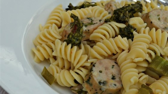 Photo of Lemon Broccolini and Sausage Pasta by Rebekah