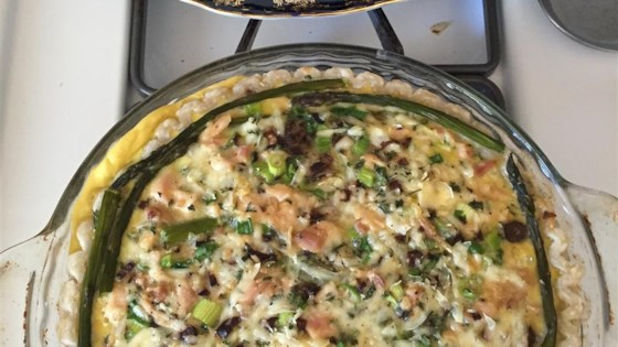 Photo of Asparagus Chicken Quiche by Dhyana