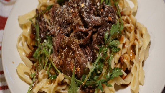 Photo of Pasta with Braised Beef and Baby Arugula by Simply Sundays!