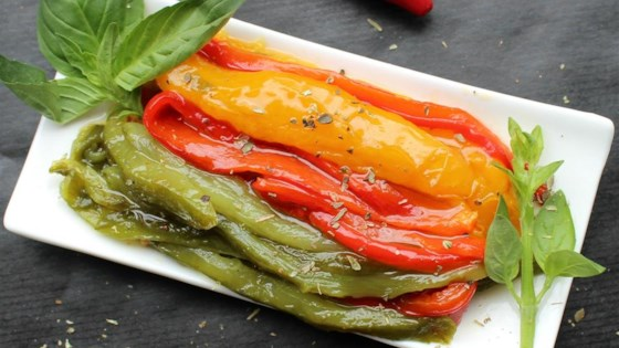 Photo of Roasted Peppers in Oil (Peperoni Arrostiti Sotto Olio) by Kim's Cooking Now!