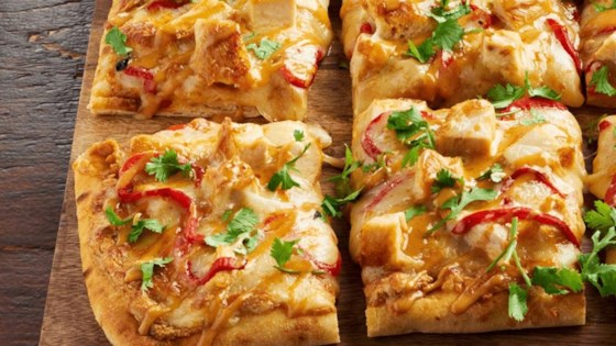 Photo of Shareable Thai Chicken Flatbread by Kraft Peanut Butter
