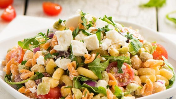 Photo of Catelli Bistro Rainbow Pasta Salad with Lemon Tahini Dressing by Catelli®