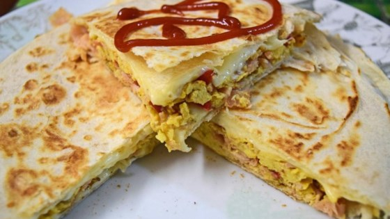 Photo of Cheesy Breakfast Quesadilla  by mjfara