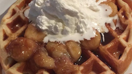 Photo of Bananas Foster Belgian Waffles by prell2k4