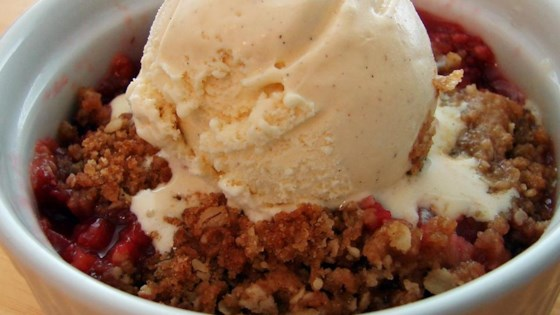 Photo of Chef John's Rhubarb Crisp  by Chef John