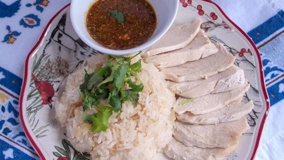 Khao Man Gai Thai Chicken and Rice (Healthy Version)