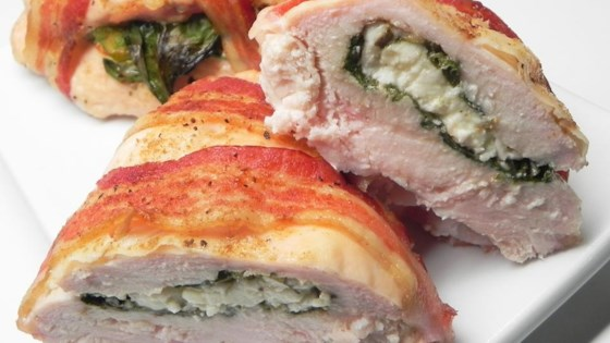 Photo of Bacon Wrapped Turkey Breast Stuffed with Spinach and Feta by Nicole