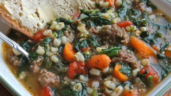 Photo of Sausage Barley Soup by MRSARAB