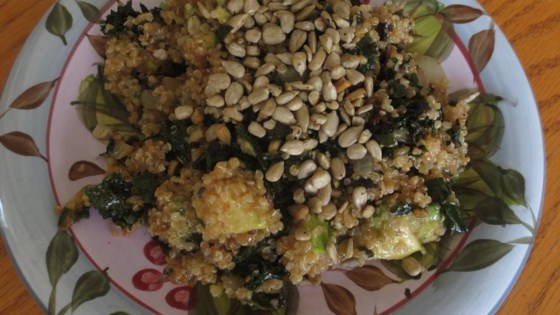 Photo of Quinoa, Kale, and Avocado Salad with Lemon Dijon Vinaigrette Dressing by Kelsey King