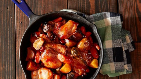 Photo of One-Skillet Roasted BBQ Chicken and Vegetables by Reynolds Kitchens®