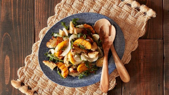 Photo of Grilled Panzanella Salad with Peaches and Fennel by Reynolds Kitchens®