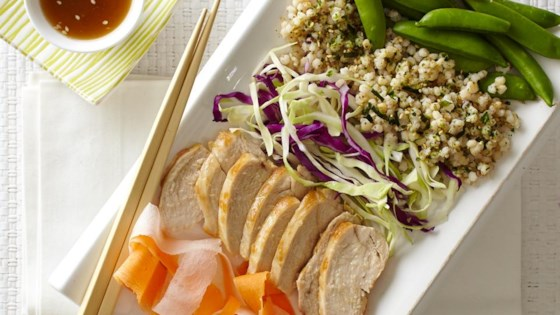 Photo of Asian Veggies, Chicken and Sorghum Grain Bowl by The Sorghum Checkoff
