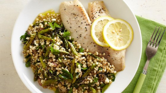 Photo of Sorghum Pilaf with Roasted Asparagus by The Sorghum Checkoff