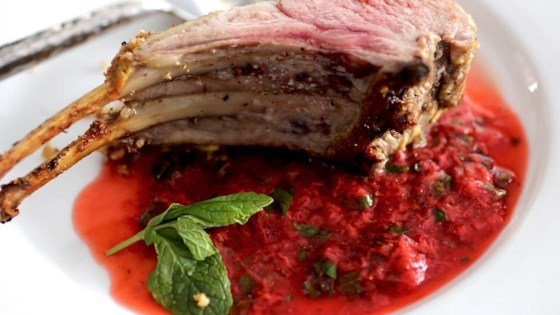 Photo of Rack of Lamb with Strawberry Mint Sauce by Chef John