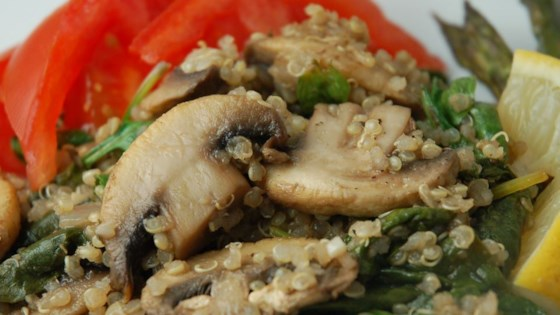Photo of Robin's Quinoa with Mushrooms and Spinach by Robin B.
