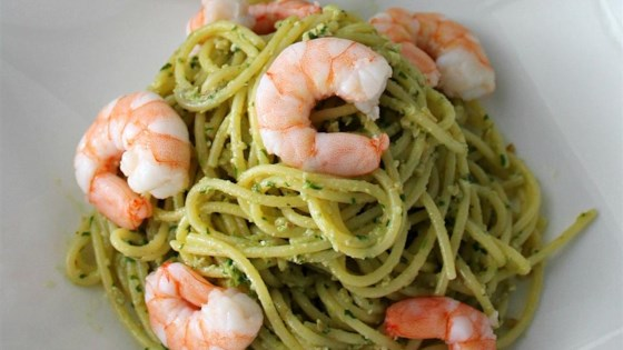 Photo of Light Shrimp and Pesto Pasta by BigShotsMom