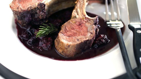 Rack of Lamb with Blueberry Sauce