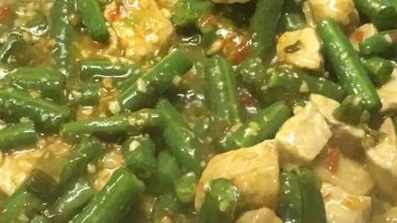 Spicy Green Beans and Pork, Asian Style