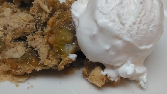 Photo of Easy Rhubarb Crisp by Baking Girl