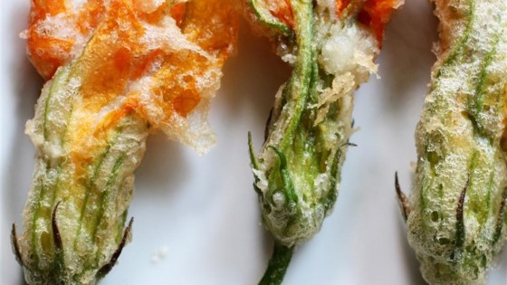 Photo of Fried Stuffed Squash Blossoms  by Chef John