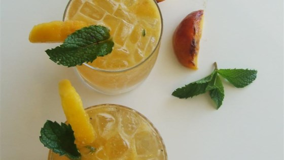 Grilled Peach Bourbon Smash Recipe