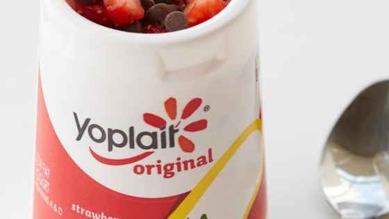 Photo of Double Chocolate-Dipped Strawberry Yogurt Cup by Yoplait
