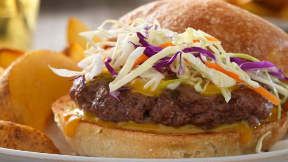 Photo of Carolina Barbecue Burgers by Beef. It's What's for Dinner.