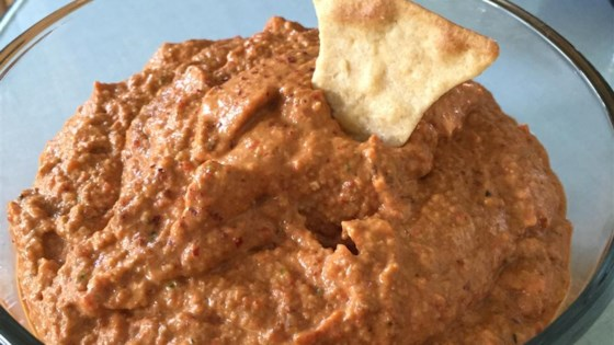 Traditional Muhammara (Syrian Hot Pepper Dip)