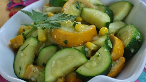 Photo of Garlicky Summer Squash and Fresh Corn by Mindy