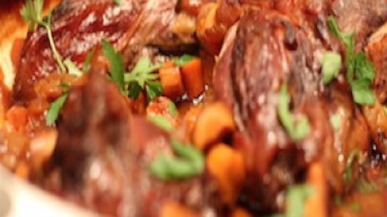Photo of Braised Lamb Shanks with Butternut Squash Puree by Cindy Anschutz Barbieri
