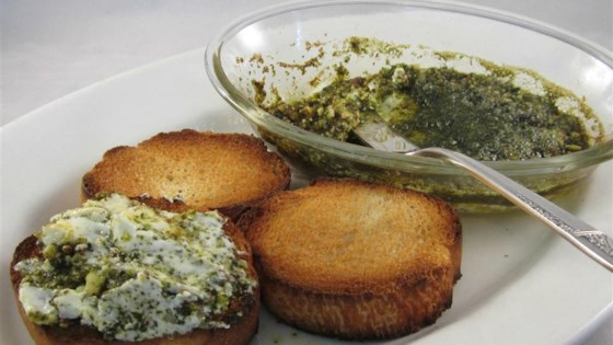 Photo of Pesto Cream Cheese Dip by lil deb