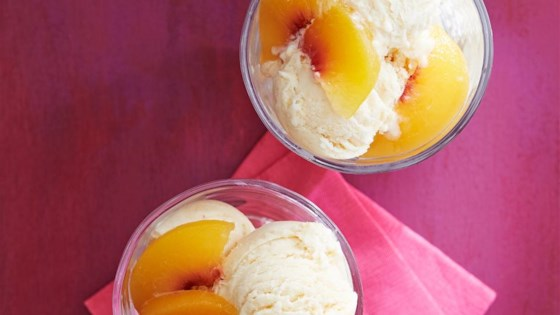 Photo of Georgia Peach Homemade Ice Cream by Nancy Ransom