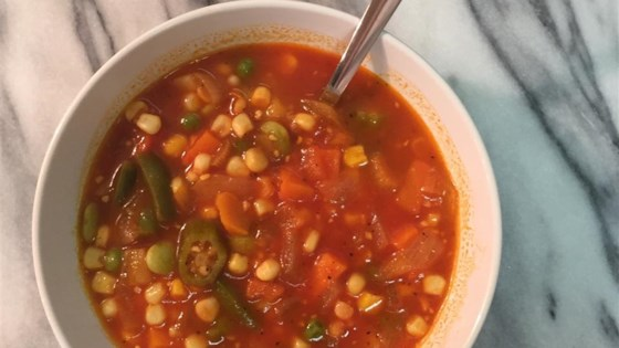 Photo of Quick and Fast Vegetarian Vegetable Soup in a Hurry by RoMomma