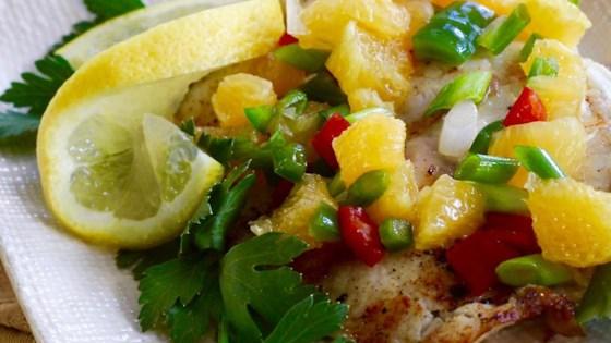 Photo of Grilled Tilapia with Orange Salsa  by LARMIAK