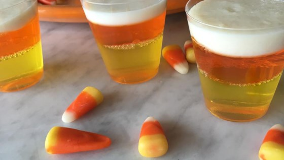 Photo of Halloween Candy Corn Jell-O® Shots by Leslie Kelly
