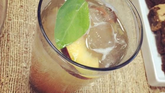Photo of The Deb (Peach-Basil Bourbon Smash) Cocktail by Nicholio