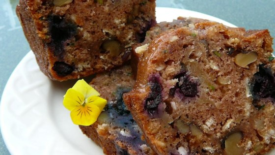 Photo of Barbie's Blueberry Zucchini Bread with Oatmeal and Walnuts by Barbara