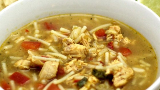 Photo of Salsa Verde Chicken and Rice Tortilla Soup by duboo