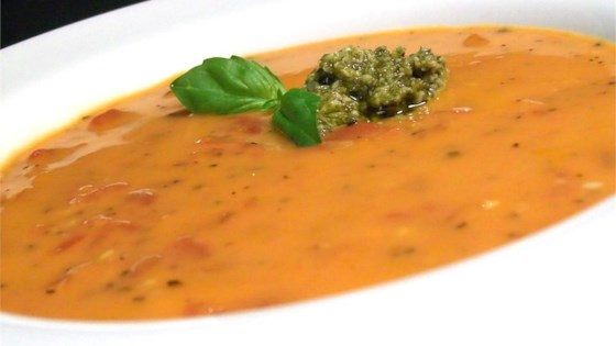 Photo of Cream of Tomato Soup with Pesto by DASKDS