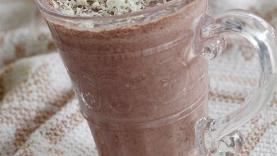 Photo of Chocolate Peach Smoothie by Aredendra