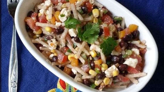Photo of Black Bean, Corn, and Tomato Salad with Feta Cheese by Jani  Whitsett
