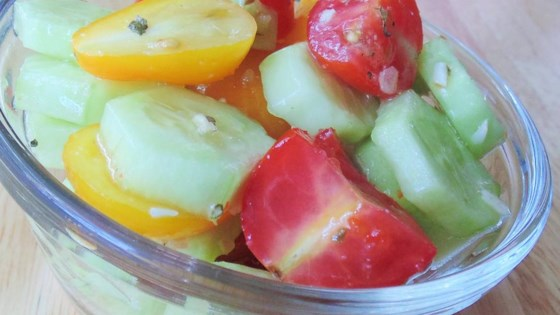 Photo of Wish-Bone® Cucumber and Cherry Tomato Salad by Candy Apple