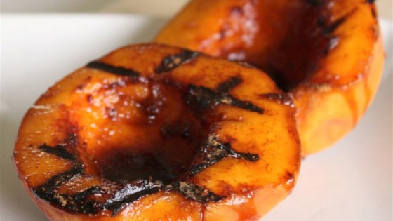 Molasses Grilled Peaches