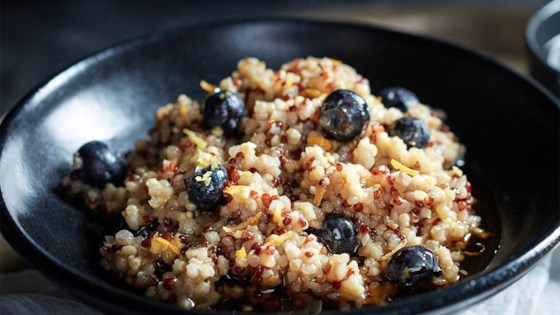 Photo of Blueberry Lemon Sprouted Rice and Quinoa Cereal by truRoots®