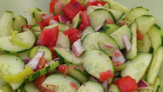 Photo of Italian Tomato Cucumber Salad by BramptonMommyof2